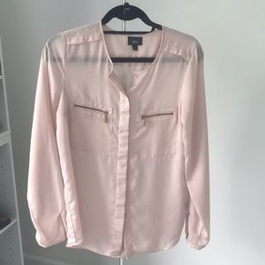 Blush Pink Satin Blouse